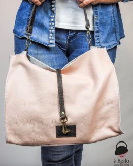 Irene borsa pelle martellata colore rosa anteprima.