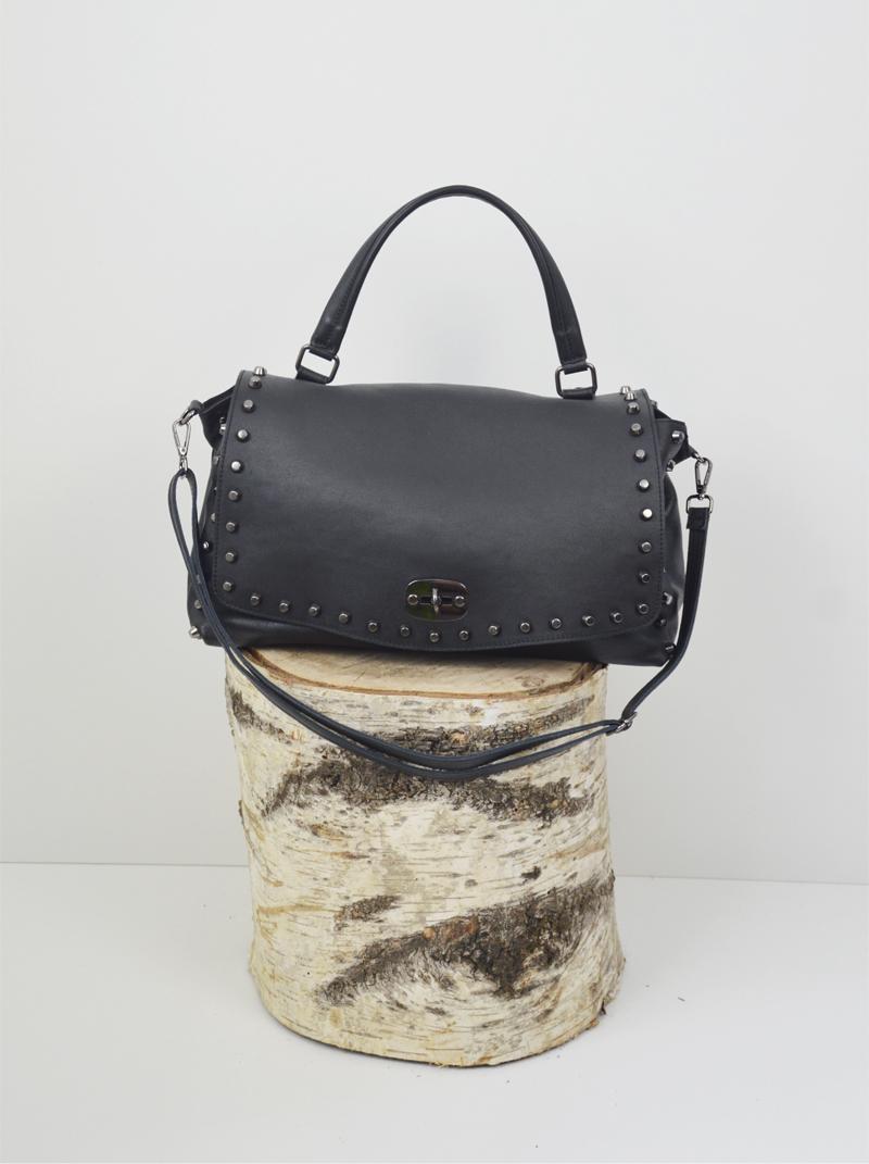 Jamsine Rock pelle savgae colore nero anteprima.