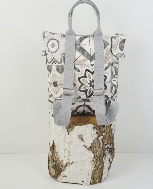 Marta Xs cotone simboli floreali banda laminata canna di fucile retro.
