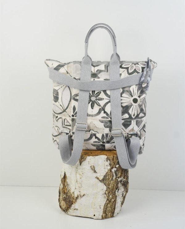 Martina cotone simboli floreali banda laminata canna di fucile retro.
