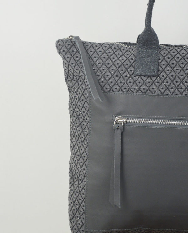 Martina cotone grigio rombi tasca savage grigio dettaglio.